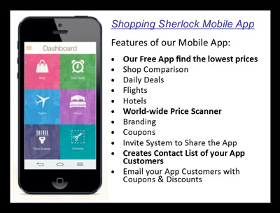 Shopping Sherlock Mobile App